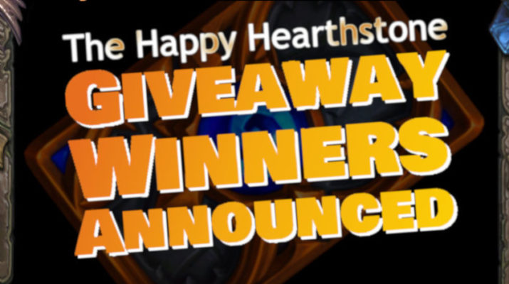 The Happy Hearthstone Holiday Giveaway 2018 Winners