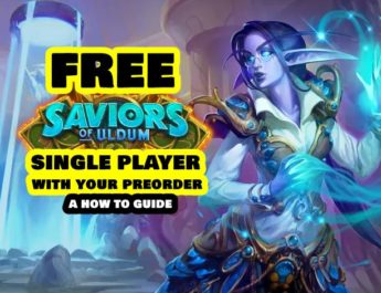 Get the Single Player of Saviors of Uldum FREE with your Preorder
